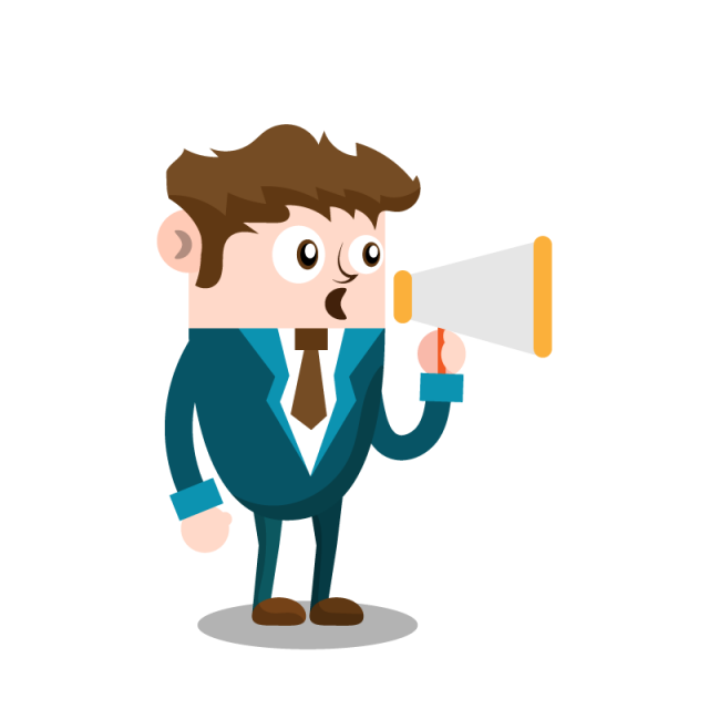 Megaphone man png. Business with people and