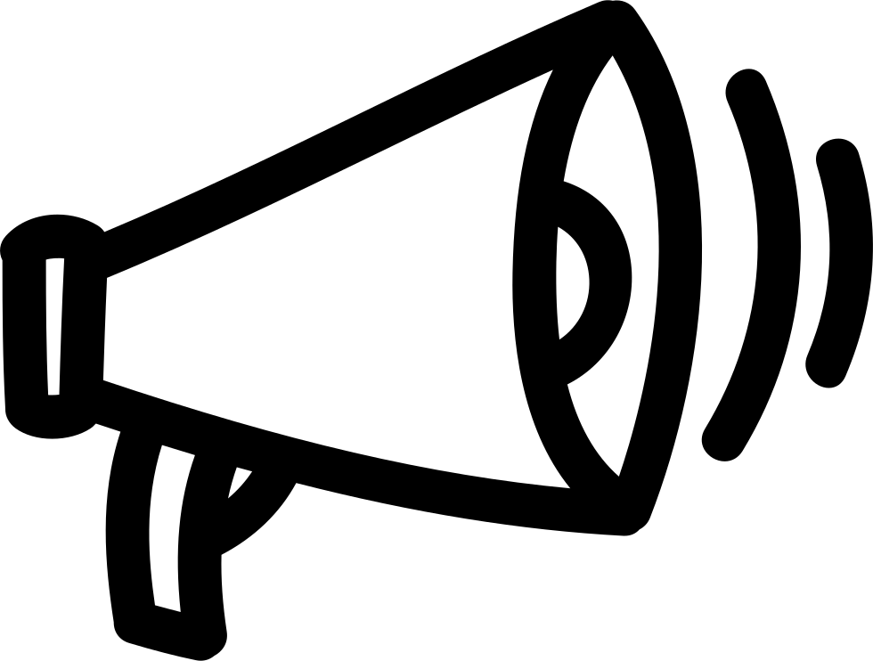 Megaphone outline png. Hand drawn tool svg