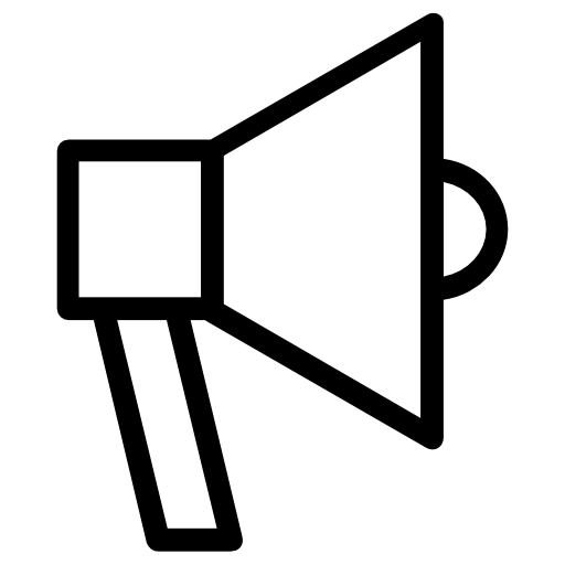 Megaphone outline png. Icon page svg