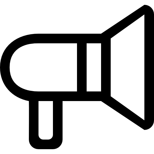 Megaphone outline png. Of amplification tool free