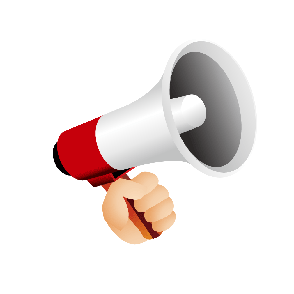 Loud speaker png. Megaphone loudspeaker icon red