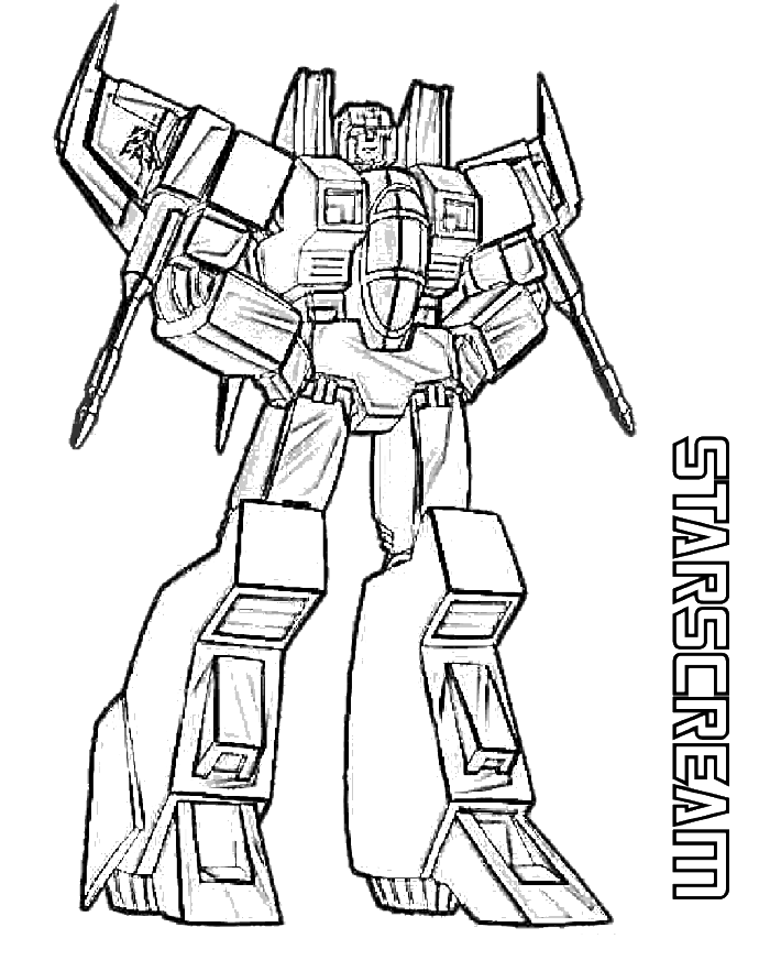 Megatron drawing. Starscream transformers coloring page