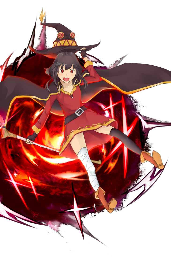 Megumin arms out png. By bara on deviantart