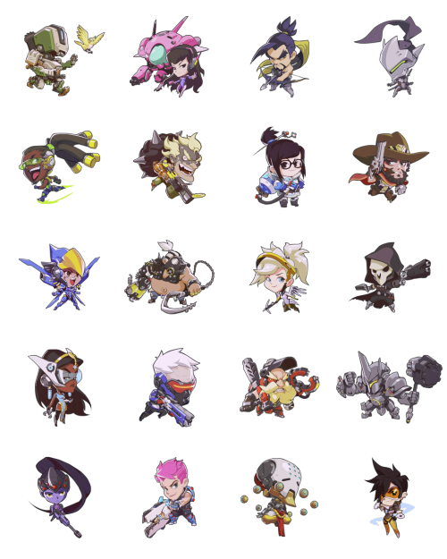 Overwatch sprays png
