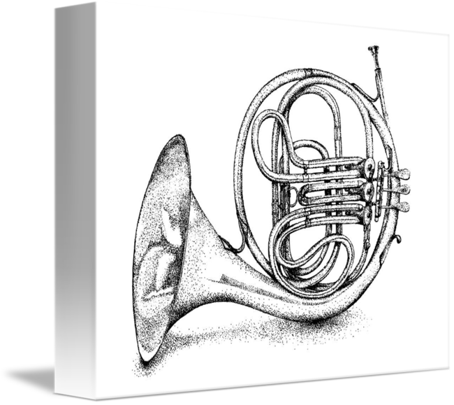 Mellophone drawing french horn. Full by kevin mowatt