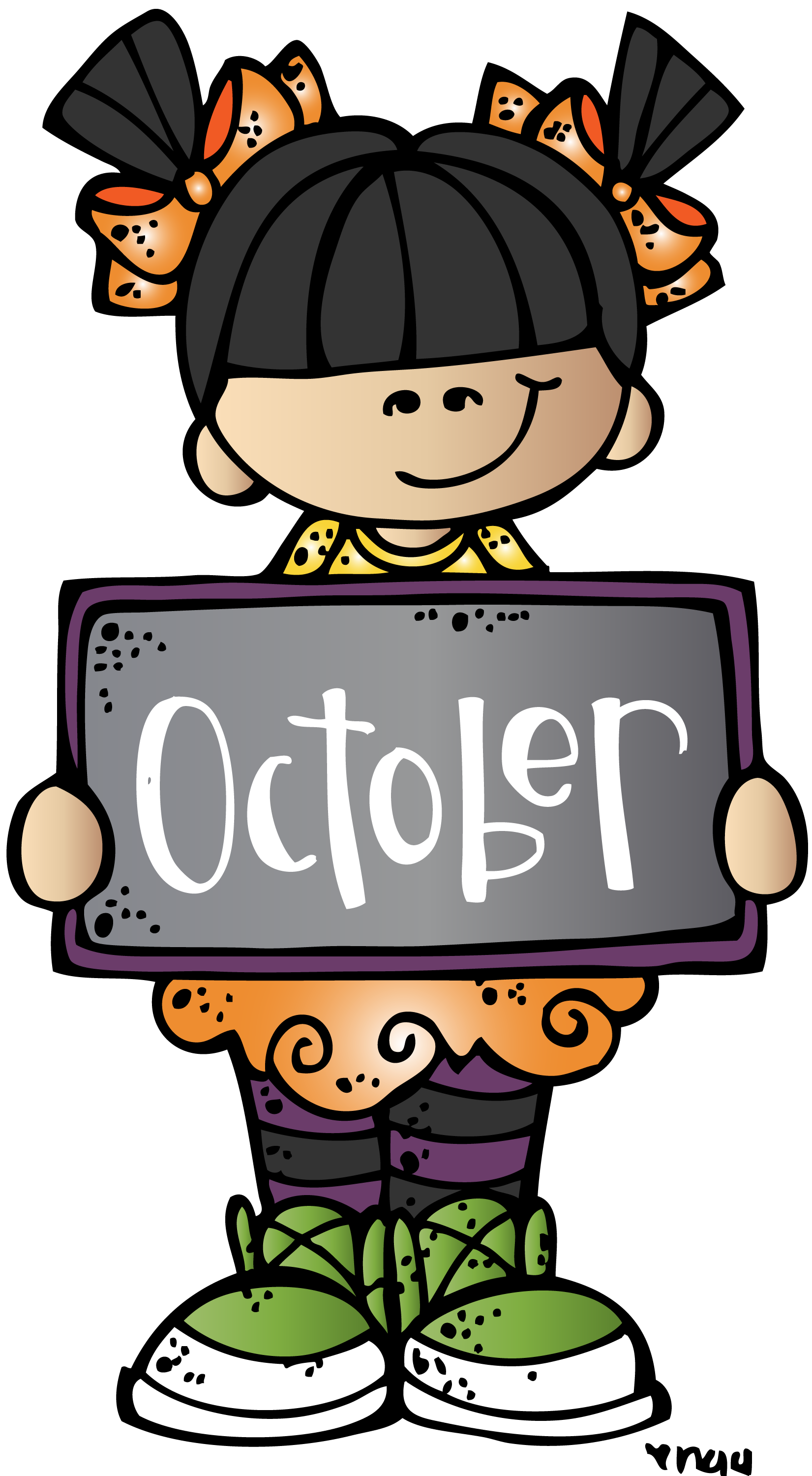 october clipart melonheadz