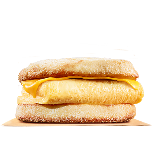 Melted cheese png. Egg english muffin burger