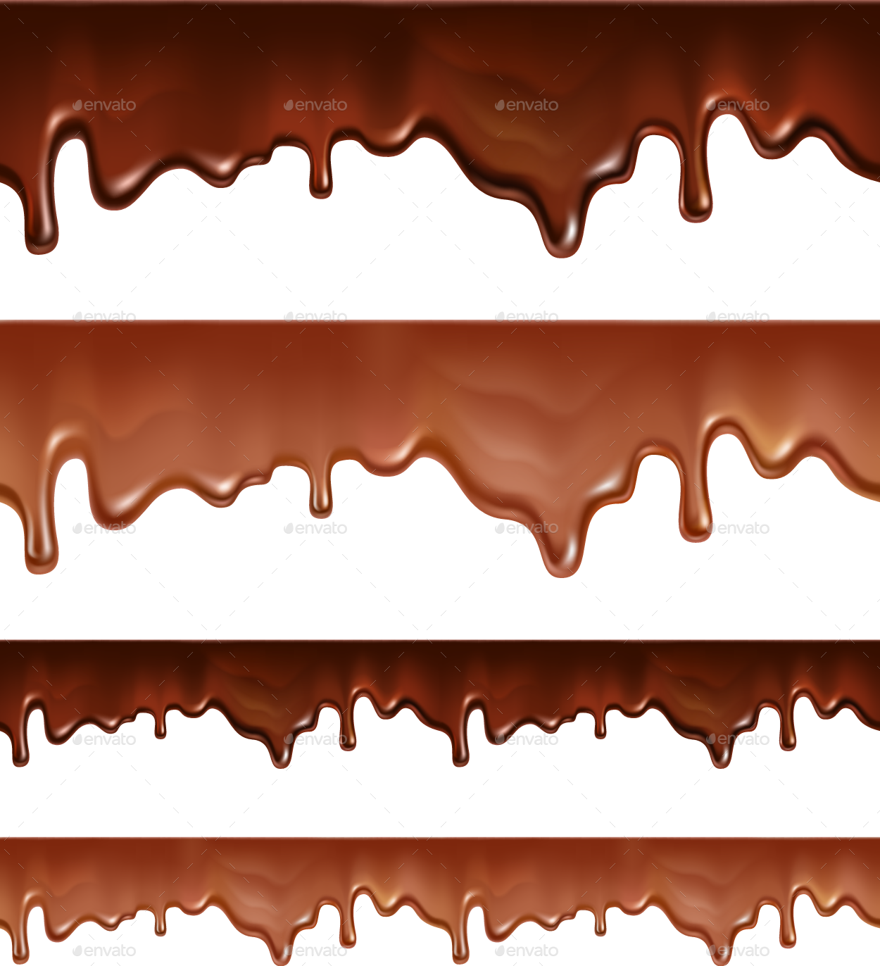 Melted chocolate background png. Dripping on white by