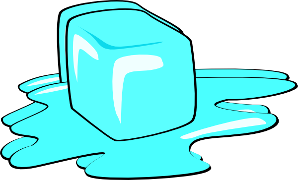 Melting vector. Ice cube library