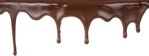 Melting vector chocolate syrup. D e a f