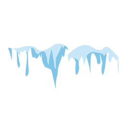 Melting vector snow. Blue background download icicles