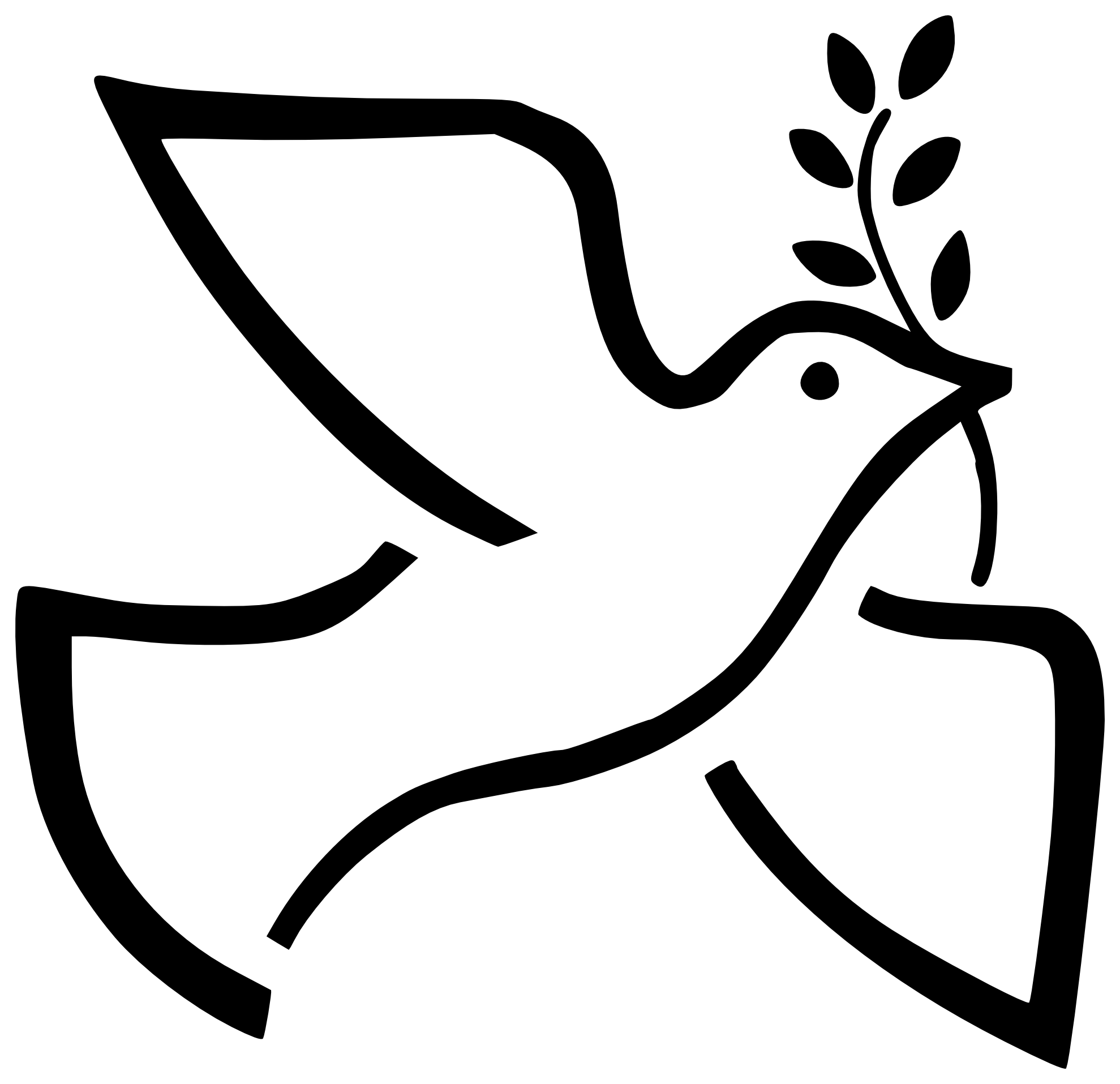 vector doves dove outline