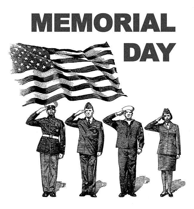 Soldier clipart memorial day. Clip art black and