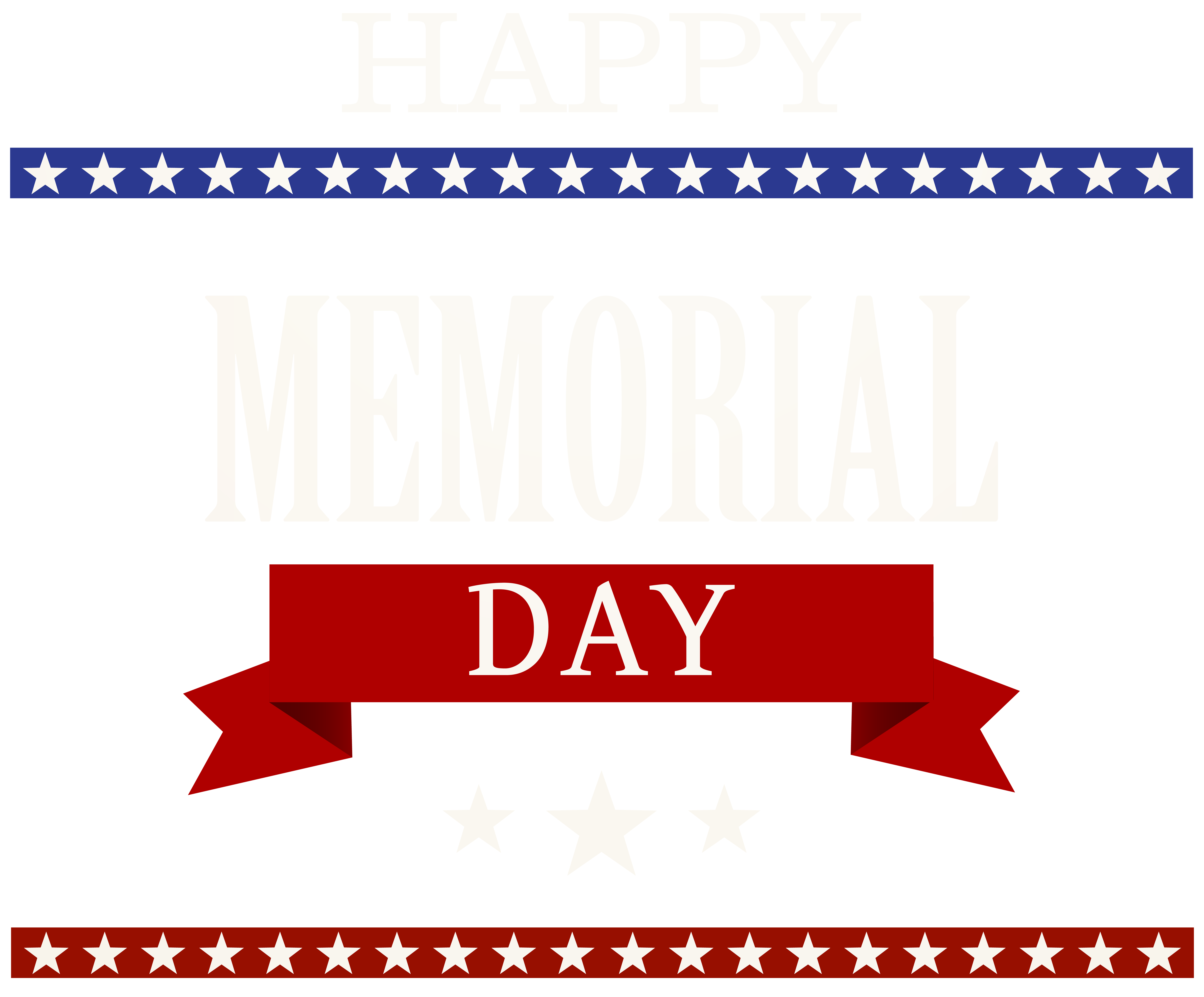 Happy memorial day png. Transparent clip art image