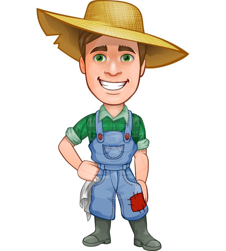 Men clipart farming. Farmer cartoon drawing at
