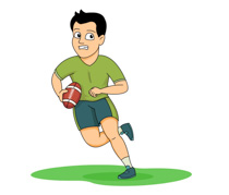 Men clipart football. Sports free to download