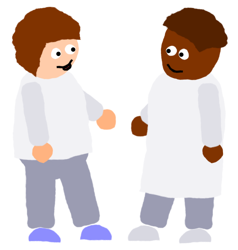 Men clipart hospital. Crooked and medium image