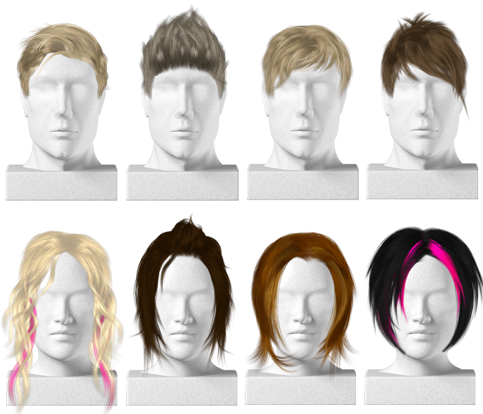 Men short hair png. Virtual hairstyles for a