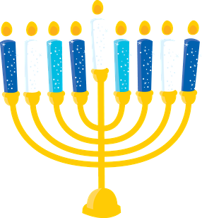 Holiday gift clip art. Menorah clipart banner royalty free stock
