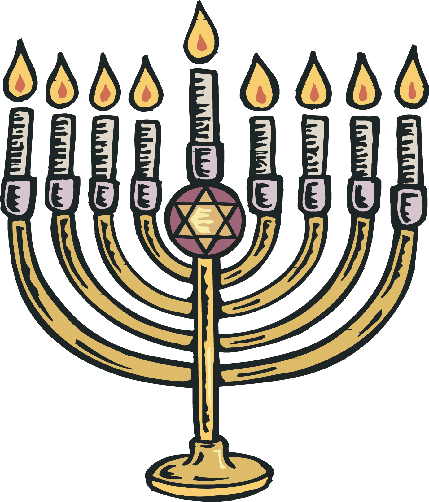 Menorah clipart traditional. Images group picture of