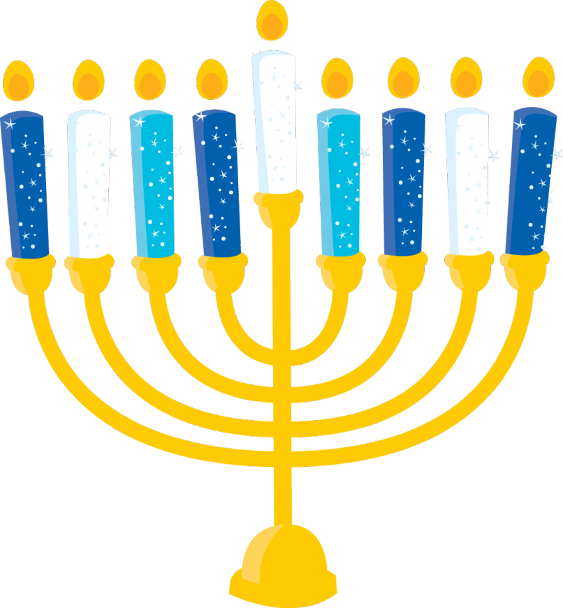 Menorah with candles png. Silhouette at getdrawings com