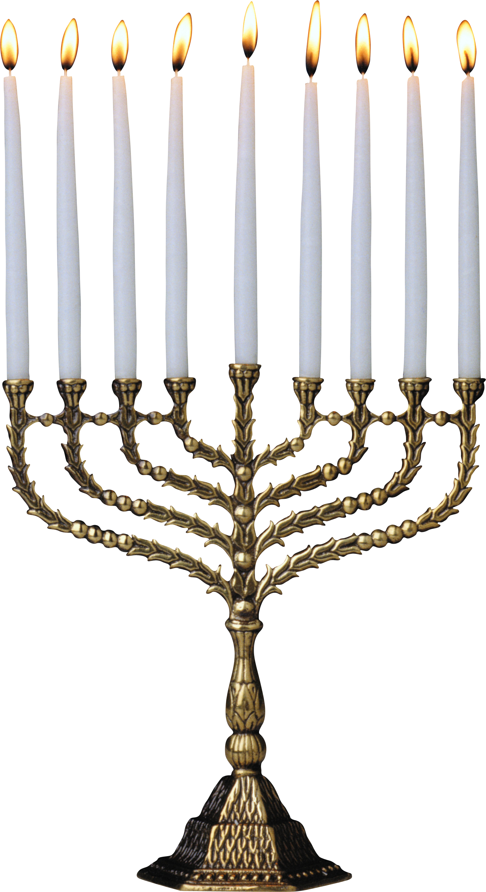 Menorah with candles png. White candle s image