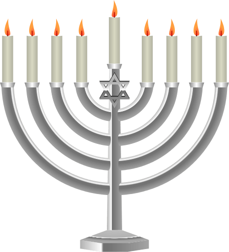 Hannukah transparent stickpng. Menorah clipart png graphic black and white download