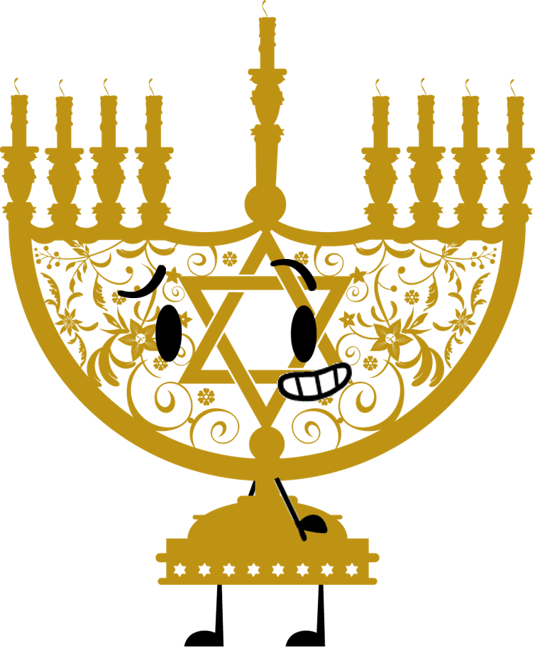 Menorah with candles png. Image object shows community
