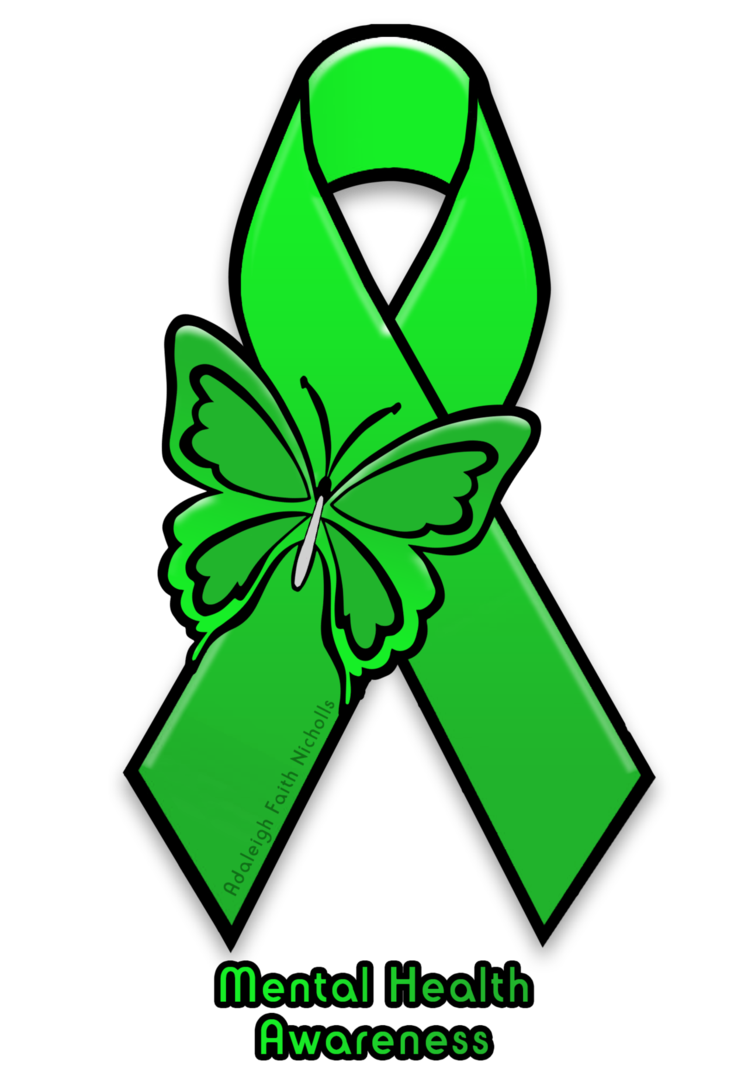 Mental health awareness ribbon png. Illness by adaleighfaith on
