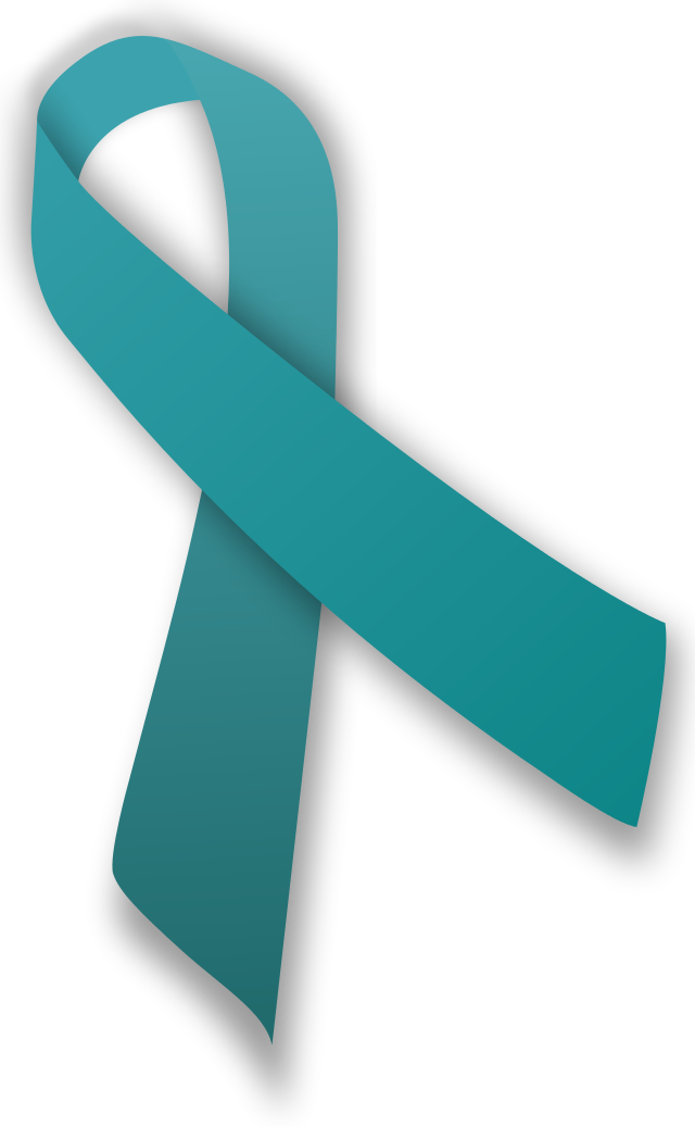 Mental health awareness ribbon png. Teal for anxiety cancer