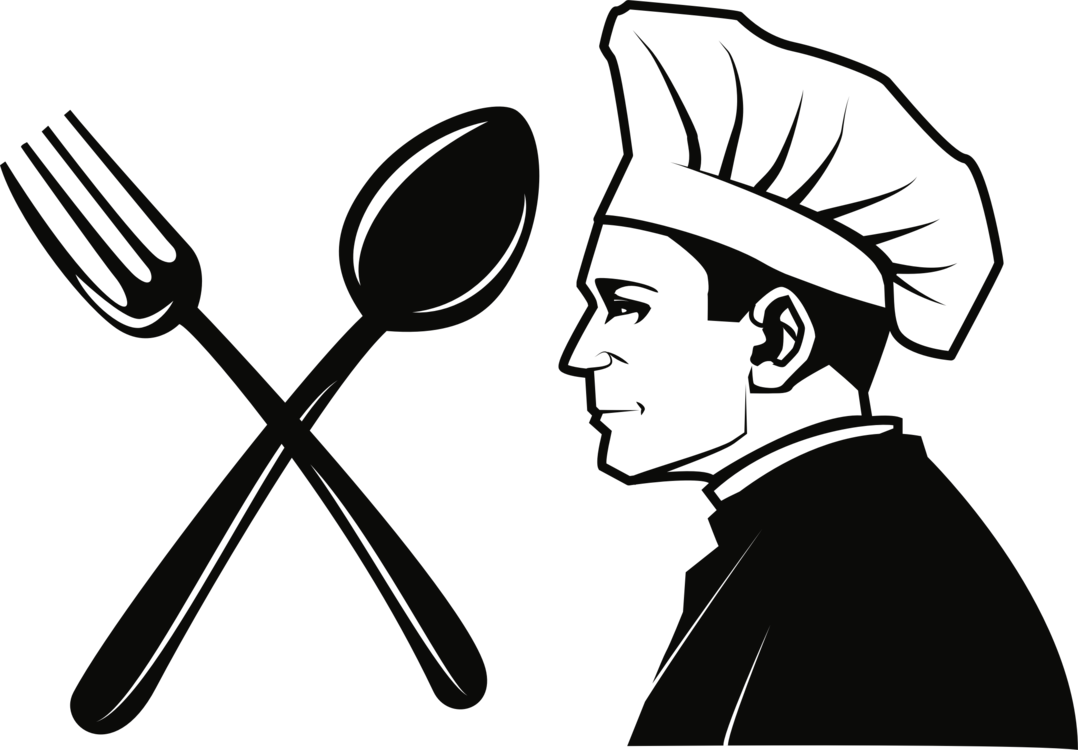Catering clipart knife fork. Restaurant chef clip art