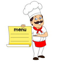 menu clipart chef menu