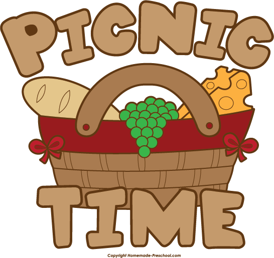 Family group with items. Western clipart picnic vector black and white download
