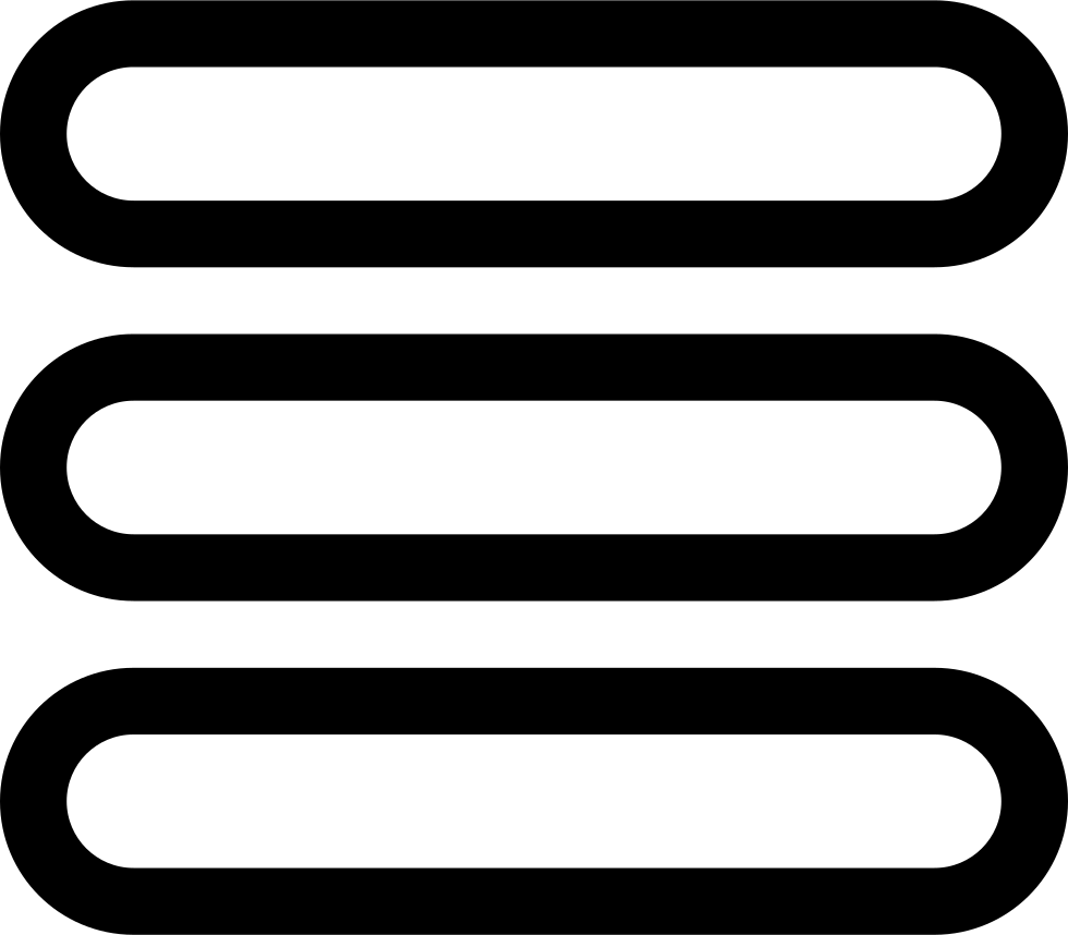Menu icon png 3 lines. Three outlined rounded symbol