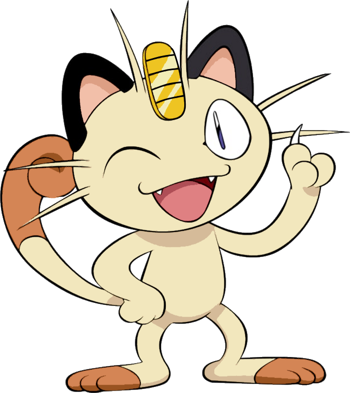 Meowth transparent. By briannabellerose on