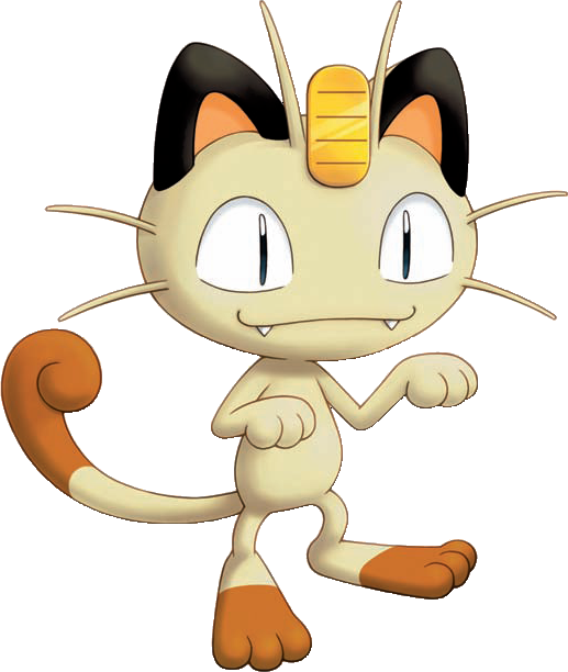 Pokemon evolution related keywords. Meowth transparent png black and white download