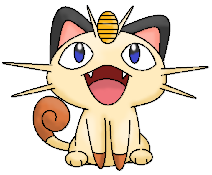Meowth transparent cute. Arttrade with xxbrightyxx by clip transparent stock