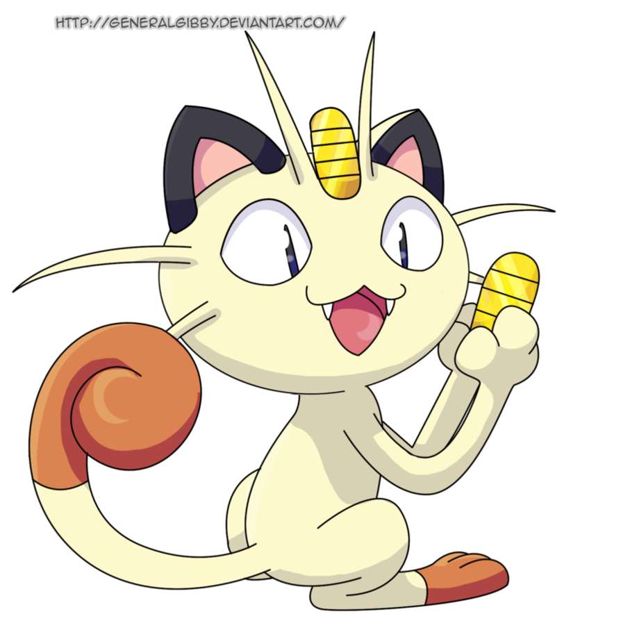 Meowth transparent deviantart. My favorite normal type clipart black and white