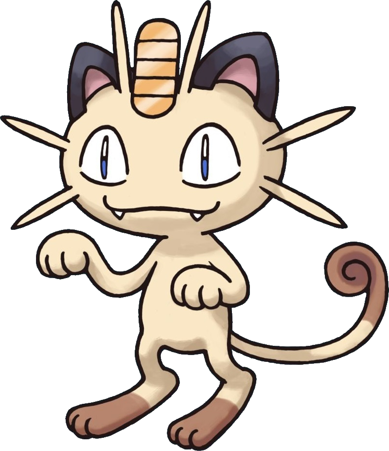 Meowth transparent pokemon mystery dungeon. Image red and blue