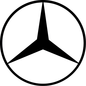 Mercedes drawing outline. Benz logo vectors free
