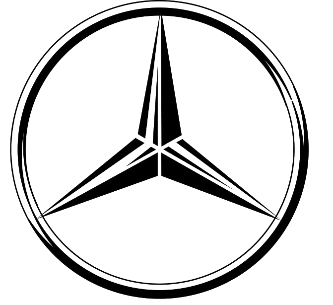 Mercedes drawing pencil. Best free benz logo
