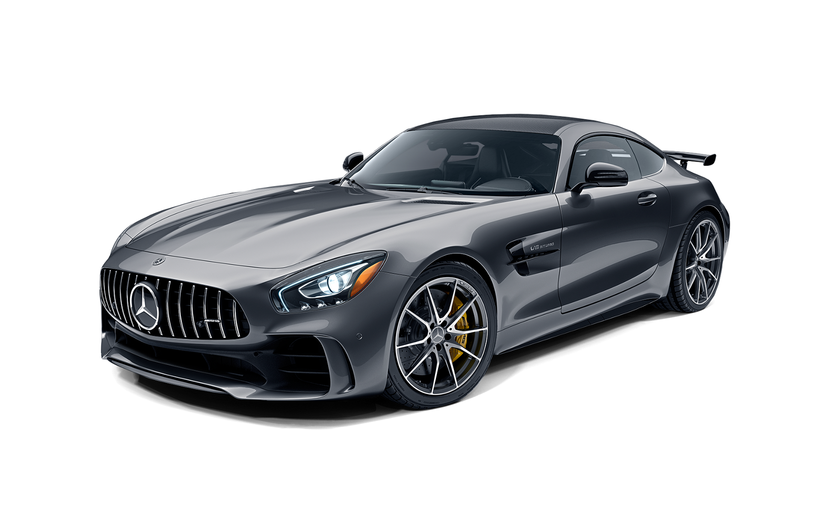 Mercedes drawing sports car. Benz amg gt grey