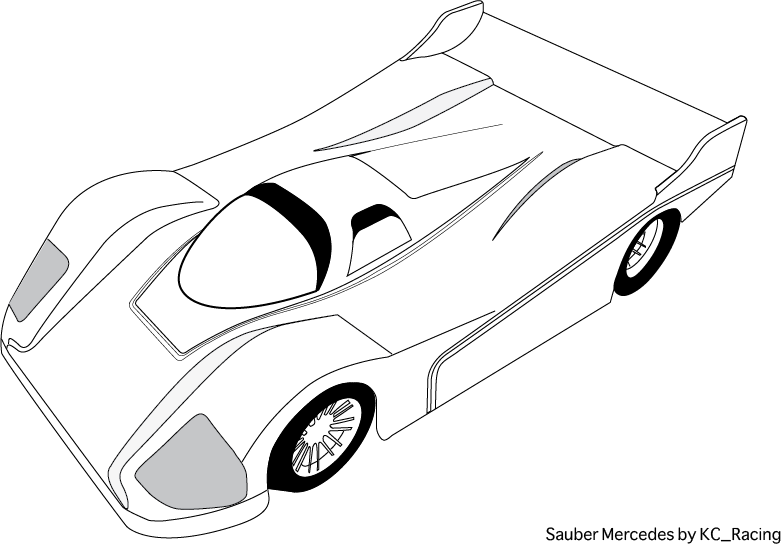 Mercedes drawing template. Blank templates for designing