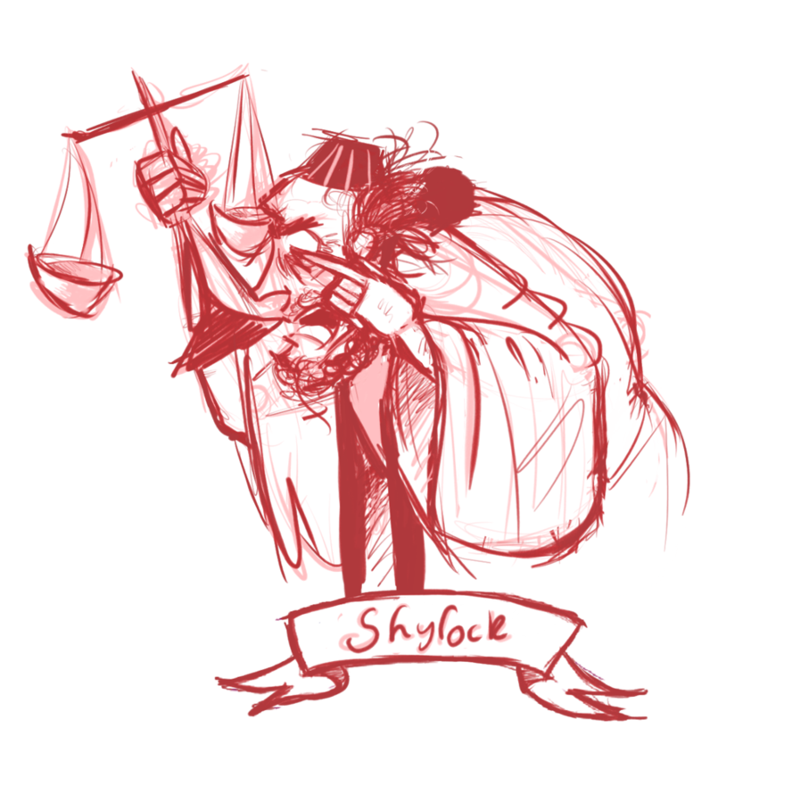 Venice drawing. Shylock the merchant of
