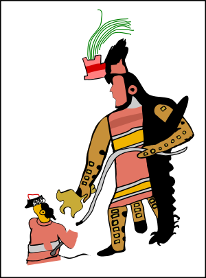 Merchant drawing aztec. Juxtlahuaca wikipedia