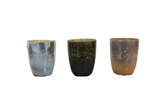 Mercury glass candles png. Votives rentals for events