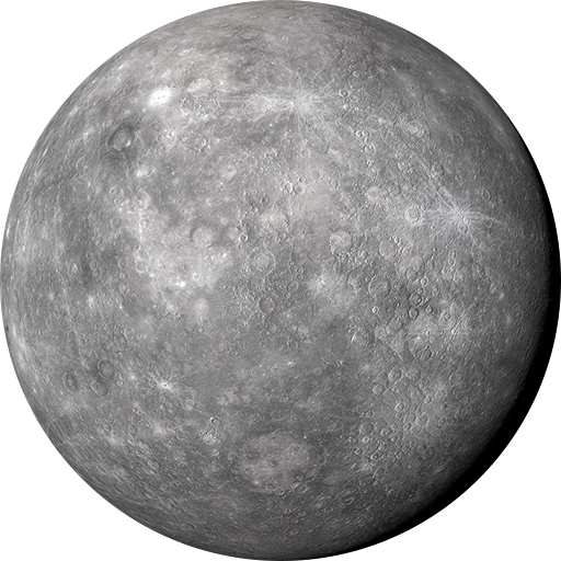 Mercury planet png. Spacepedia solar system scope