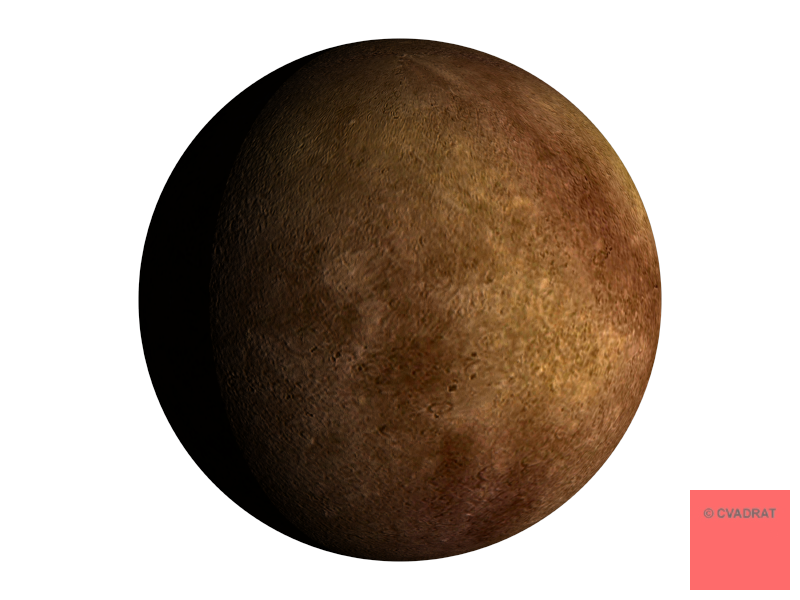 Mercury planet png. Cvadrat geometrical and mathematical