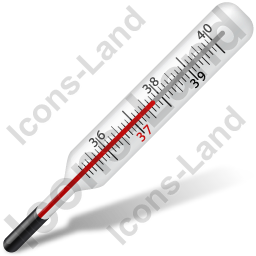 Transparent thermometer mercury. Medical icon png ico