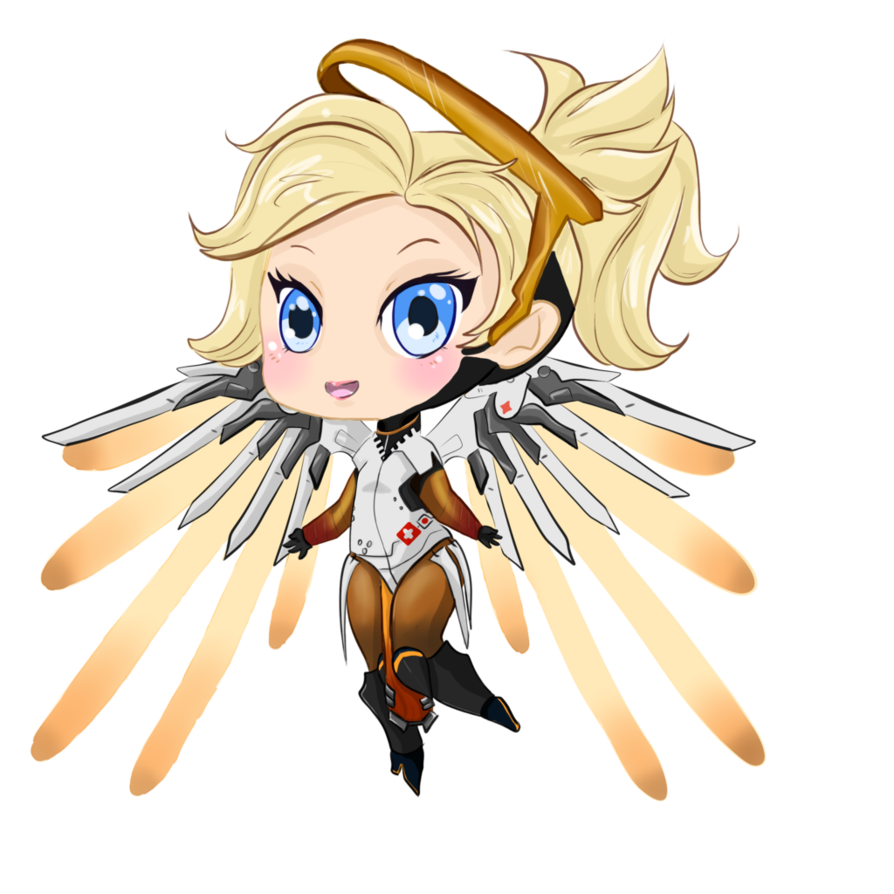 Mercy png. Chibi by tellosnap on